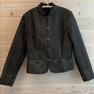 Tahari denim embroidered jacket